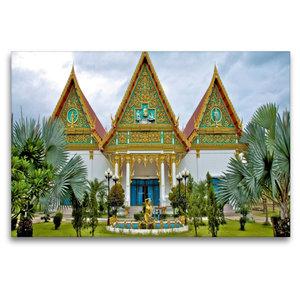 Premium Textil-Leinwand 120 cm x 80 cm quer Tempelanlage, Hua Hi