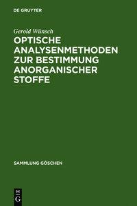 Optische Analysenmethoden zur Bestimmung anorganischer Stoffe