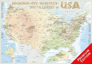 Bourbon-Rye-Whiskey Distilleries in USA - Poster 100x70cm - Prem
