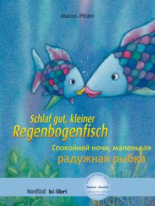 Schlaf gut, kleiner Regenbogenfisch. Kinderbuch Deutsch-Russisch