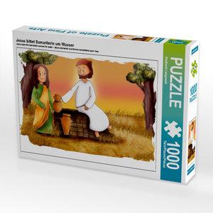 Jesus bittet Samariterin um Wasser 1000 Teile Puzzle quer