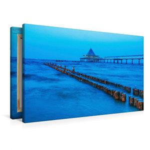 Premium Textil-Leinwand 90 cm x 60 cm quer Möwen zur blauen Stun