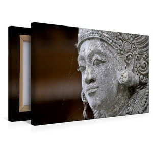 Premium Textil-Leinwand 45 cm x 30 cm quer Statue in einem Tempe