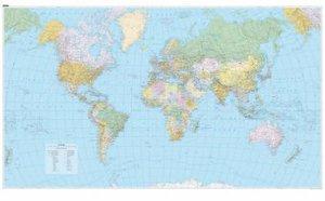KuF Die Welt politisch 1 : 23 000 000. 2 Poster Karten