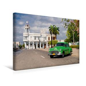 Premium Textil-Leinwand 45 cm x 30 cm quer Cuba Cars
