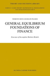 General Equilibrium Foundations of Finance