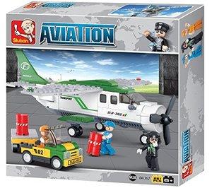 Sluban AVIATION M38-B0362 - Propeller Frachtflugzeug, 251 Teile