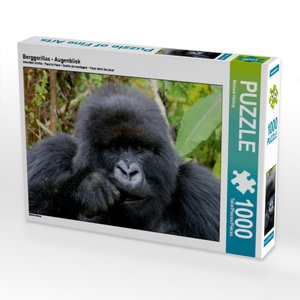 CALVENDO Puzzle Berggorillas - Augenblick 1000 Teile Lege-Größe
