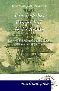 Ein deutsches Kriegsschiff in der Südsee
