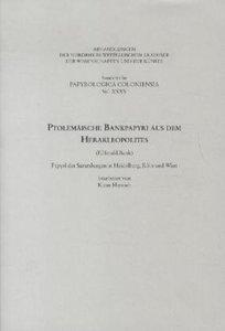 Ptolemäische Bankpapyri aus dem Herakleopolites (P.Herakl.Bank)