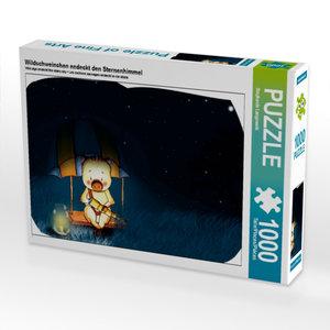 Wildschweinchen endeckt den Sternenhimmel 1000 Teile Puzzle quer
