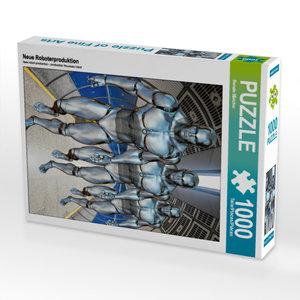 CALVENDO Puzzle Neue Roboterproduktion 1000 Teile Lege-Größe 48