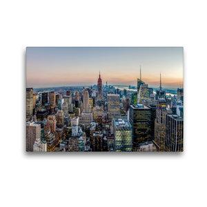 Premium Textil-Leinwand 45 cm x 30 cm quer Panorama vom Rockefel