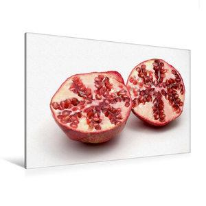Premium Textil-Leinwand 120 cm x 80 cm quer Granatapfel
