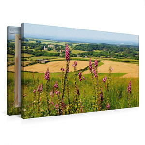 Premium Textil-Leinwand 75 cm x 50 cm quer Landschaft Südengland