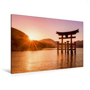 Premium Textil-Leinwand 120 cm x 80 cm quer Itsukushima Schrein