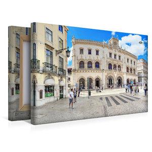 Premium Textil-Leinwand 45 cm x 30 cm quer Bahnhof Rossio direkt
