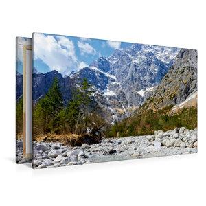 Premium Textil-Leinwand 120 cm x 80 cm quer Eisbach