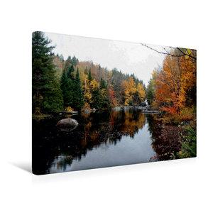Premium Textil-Leinwand 45 cm x 30 cm quer Blick auf den Berg Tr