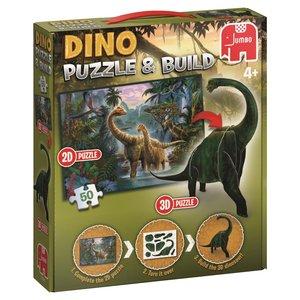 Dinosaurier Puzzle & Build 2D-3D 50 Teile