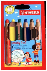 STABILO woody 3 in 1 6er Etui