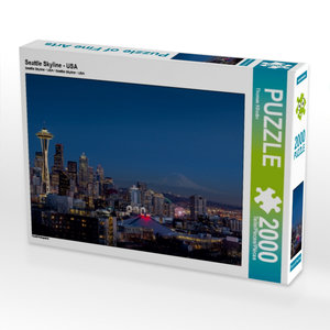 Seattle Skyline - USA 2000 Teile Puzzle quer