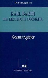 Kirchliche Dogmatik Bd. 31 - Registerband