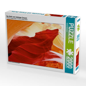 Der Wolf vom Antelope Canyon 2000 Teile Puzzle quer