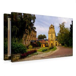 Premium Textil-Leinwand 75 cm x 50 cm quer Kloster Pforta