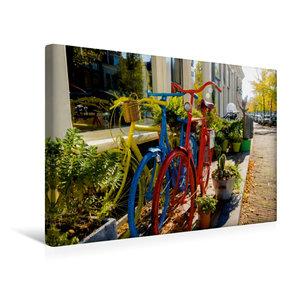 Premium Textil-Leinwand 45 cm x 30 cm quer Bunte Fahrräder