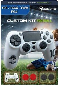 SUBSONIC Custom Kit Football, 1 Skin (weiß), 2 Sätze Thumb Grips