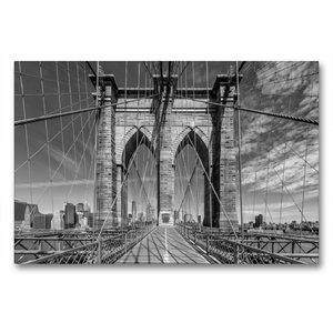 Premium Textil-Leinwand 90 cm x 60 cm quer NEW YORK CITY Brookly