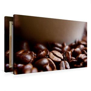 Premium Textil-Leinwand 75 cm x 50 cm quer Frische Kaffeebohnen
