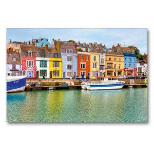 Premium Textil-Leinwand 90 cm x 60 cm quer Hafen von Weymouth
