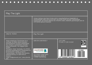 Play the Light (Tischkalender 2019 DIN A5 quer)