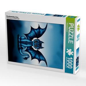 Drachenbaby blau 1000 Teile Puzzle hoch