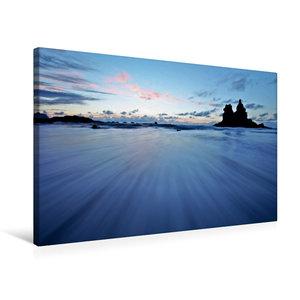 Premium Textil-Leinwand 75 cm x 50 cm quer Playa de Benijo