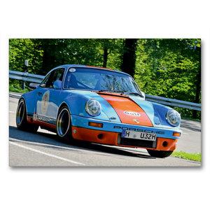 Premium Textil-Leinwand 90 cm x 60 cm quer Porsche 911 SC R - 19