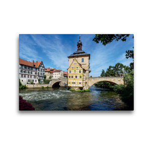 Premium Textil-Leinwand 45 cm x 30 cm quer Bamberg