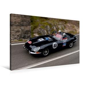 Premium Textil-Leinwand 90 cm x 60 cm quer Jaguar E-Type