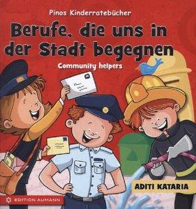 Pinos Kinderratebücher: Berufe, die uns in der Stadt begegnen -
