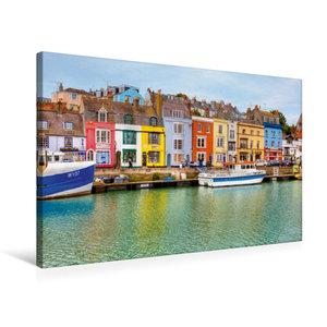 Premium Textil-Leinwand 75 cm x 50 cm quer Hafen von Weymouth