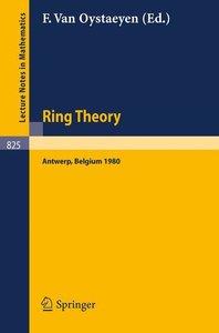 Ring Theory, Antwerp 1980