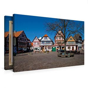 Premium Textil-Leinwand 75 cm x 50 cm quer Marktplatz Seligensta