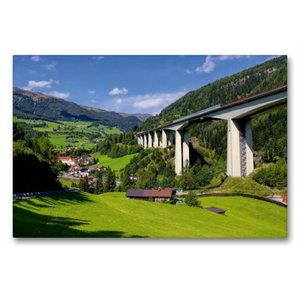 Premium Textil-Leinwand 90 cm x 60 cm quer Brennerautobahn
