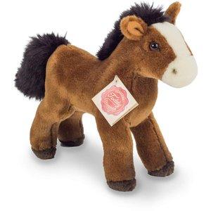 Teddy Hermann 90264 - Pferd mit Stimme, rotbraun, 19 cm, stehend