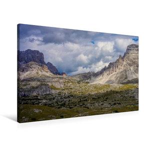 Premium Textil-Leinwand 90 cm x 60 cm quer Dreizinnenhütte