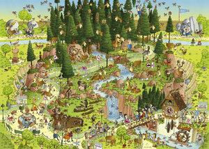 Standardpuzzle Degano Zoo Black Forest Habitat 1000 Teile