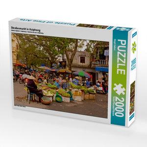 Straßenmarkt in Haiphong 2000 Teile Puzzle quer