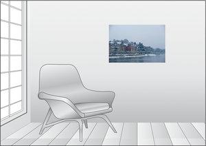 Premium Textil-Leinwand 75 cm x 50 cm quer Konstanzer Bucht